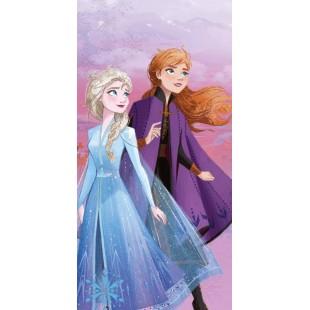Modrá detská osuška Frozen - Anna a Elza