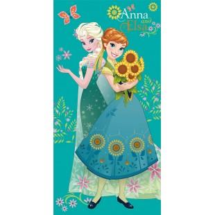 Zeleno modrá detská osuška Anna a Elza
