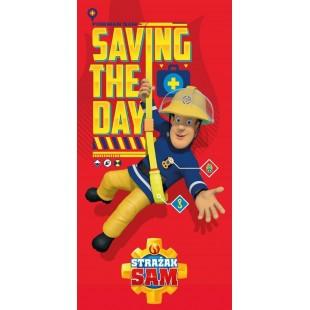 Červená detská osuška požiarnik Sam