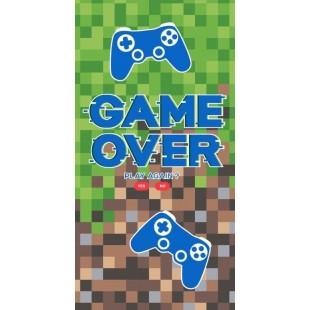 Detský plážový ručník s nápisom Game over