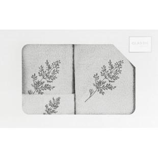 3- časťový set osušky a uterákov do kúpeľne sivej farbe