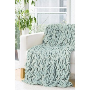 Plyšová mäkká zelená deka so vzorom