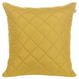 Žltá prešívana obliečka na dekoračný vankúš