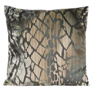 Čierna obliečka na dekoračný vankúš s leopardím vzorom