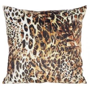 Čierno-žltá obliečka na dekoračný vankúš s leopardím vzorom
