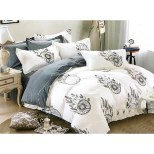 Biela posteľná obliečka zo saténovej bavlny s motívom lapača snov