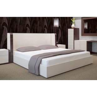 Biela bavlnená posteľná plachta s napínacou gumičkou