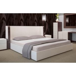 Sivá bavlnená posteľná plachta s napínacou gumičkou