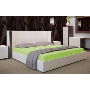 Zelená bavlnená posteľná plachta s napínacou gumičkou