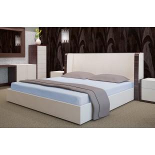 Modrá flanelová posteľná plachta bez napínacej gumičky
