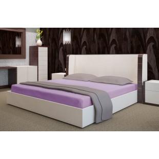 Fialová flanelová posteľná plachta bez napínacej gumičky