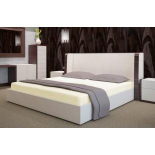 Krémová flanelová posteľná plachta s napínacou gumičkou