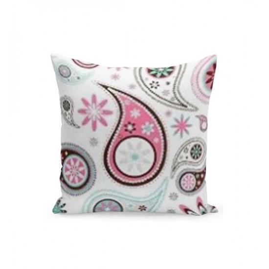 Obliečka na vankúšik v bielo ružovej farbe s motívom rozprávkových kvapiek