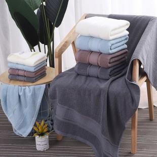 Modrý bavlnený kúpeľňový ručník
