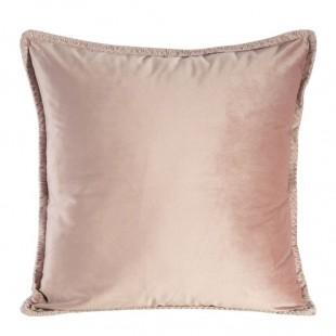 Ružová zamatová obliečka na dekoračný vankúš