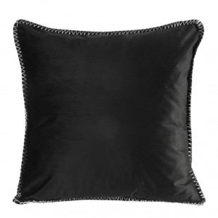 Čierna zamatová obliečka na dekoračný vankúš