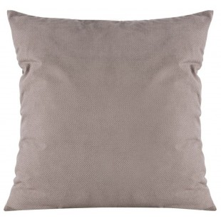 Sivá hladká zamatová obliečka na dekoračný vankúš
