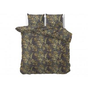Čierna bavlnená posteľná obliečka so vzormi