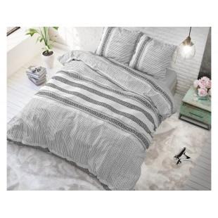 Svetlosivá posteľná obliečka zo syntetickej bavlny so vzorom