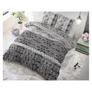 Sivá vzorovaná posteľná obliečka zo syntetickej bavlny