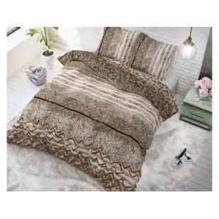 Hnedá posteľná obliečka zo syntetickej bavlny so zvieracím motívom