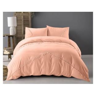 Marhuľkové posteľné obliečky z prémiovej bavlny s ozdobami