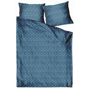 Modrá posteľná obliečka zo saténovej bavlny