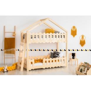 Detská poschodová posteľ v tvare domčeka