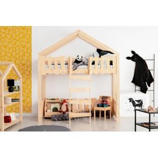 Detská drevená posteľ s hracím kútikom