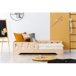 Detská netradičná drevená posteľ
