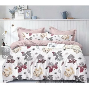 Bielo-ružová posteľná obliečka z mikrovlákna