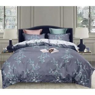 Sivo-modrá posteľná obliečka z mikrovlákna