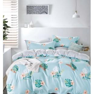 Modro-zelená obojstranná posteľná obliečka z mikrovlákna