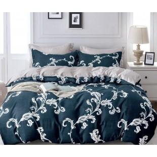 Námornicko modrá obojstranná posteľná obliečka z mikrovlákna