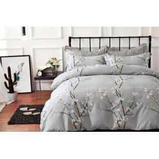 Sivá obojstranná posteľná obliečka z mikrovlákna