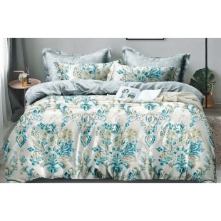 Sivo-modrá obojstranná posteľná obliečka z mikrovlákna