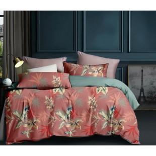 Oranžovo-sivá obojstranná posteľná obliečka z mikrovlákna