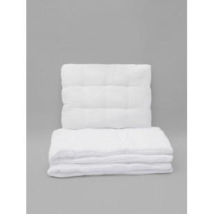 Detské biele mušelínové obliečky s výplňou