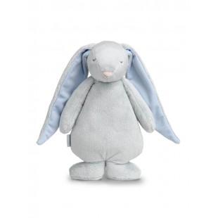 Šumiaci MOONIE zajačik sivo modrej farby