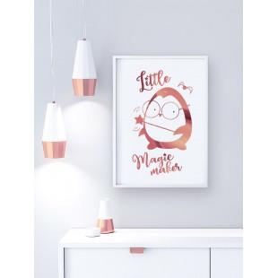 Ružovo zlatý lesklý plagát Penguin Potter