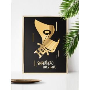 Zlato čierny lesklý plagát Batman
