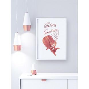 Ružovo zlatý lesklý plagát Spideman