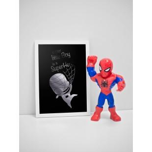 Strieborno čierny lesklý plagát Spiderman