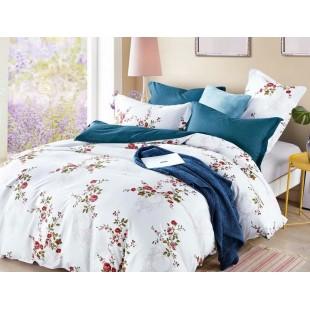 Bielo-modrá obojstranná posteľná obliečka z mikrovlákna