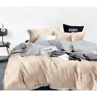 Béžovo-sivá obojstranná posteľná obliečka z mikrovlákna