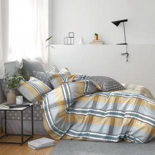 Sivá obojstranná posteľná obliečka zo saténovej bavlny
