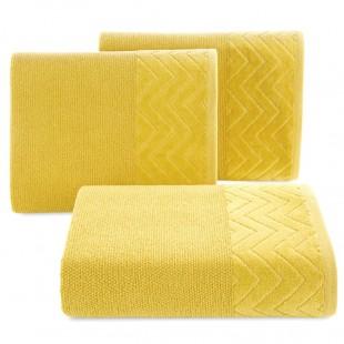 Žltý bavlnený kúpeľňový ručník