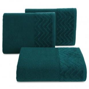 Tyrkysový bavlnený kúpeľňový ručník