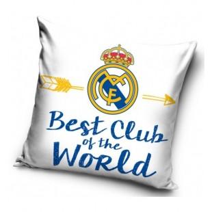 Biela obliečka na vankúš s logom Real Madrid