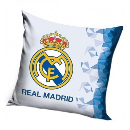 Štýlová bielo modrá obliečka na vankúš s logom Real Madrid